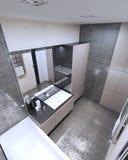 Vista panorámica del cuarto de baño moderno Imagenes de archivo