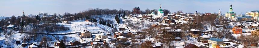 Vista panorámica del districto histórico en Vladimir Foto de archivo