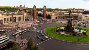 Vista panorámica del estadio de Camp Nou, Barcelona, Cataluña, España almacen de metraje de vídeo