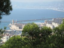 Vista panorámica del faro de Marsella Imagen de archivo libre de regalías