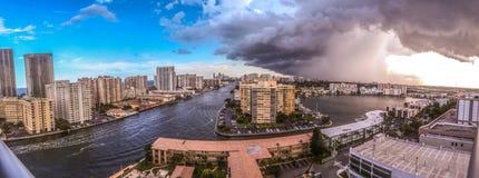 Vista panorámica del Fort Lauderdale Imágenes de archivo libres de regalías