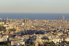 Vista panorámica del horizonte de Barcelona Imágenes de archivo libres de regalías