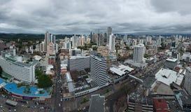 Vista panorámica del horizonte de ciudad de Panamá Fotos de archivo