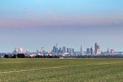 Vista panorámica del horizonte de Francfort Fotografía de archivo