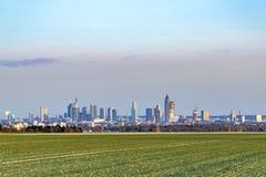Vista panorámica del horizonte de Francfort Imagen de archivo libre de regalías