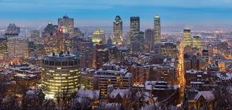 Vista panorámica del horizonte de Montreal Imágenes de archivo libres de regalías