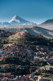 Vista panorámica del La Paz, Bolivia Foto de archivo