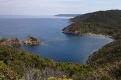 Vista panorámica del mar Mediterráneo Foto de archivo libre de regalías