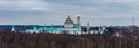 Vista panorámica del nuevo monasterio de Jerusalén de Voskresensky o de la resurrección Foto de archivo