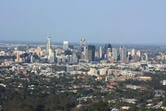 Vista panorámica del paisaje urbano de Brisbane imagen de archivo