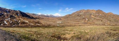 Vista panorámica del parque nacional de Denali Fotos de archivo libres de regalías