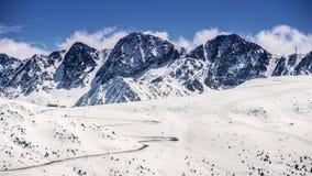 Vista panorámica del pico de montaña Fotografía de archivo libre de regalías