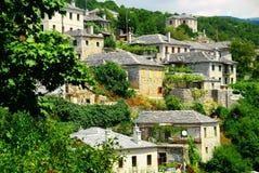 Vista panorámica del pueblo de Vitsa fotografía de archivo libre de regalías