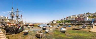 Vista panorámica del puerto de Brixham, Devon Imagen de archivo libre de regalías