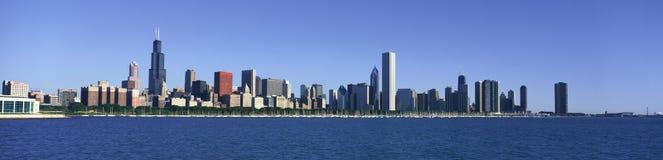 Vista panorámica del puerto de Chicago, Chicago, IL fotografía de archivo