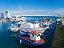 Vista panorámica del puerto de Monopoli. Apulia. foto de archivo libre de regalías