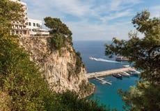 Vista panorámica del puerto de Monte Carlo fotos de archivo