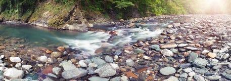 Vista panorámica del río de Sochi Imagen de archivo