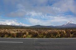 Vista panorámica del soporte Ngauruhoe en el parque nacional de Tongariro Ofreció como condenación del soporte en el señor de las imágenes de archivo libres de regalías