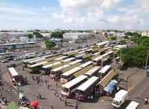 Vista panorámica del término de autobuses de Port Louis Fotografía de archivo libre de regalías