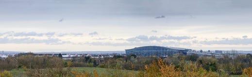 Vista panorámica del terminal 5 de Heathrow Imágenes de archivo libres de regalías