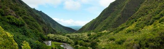 Vista panorámica del valle de Iao Imágenes de archivo libres de regalías