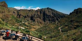 Vista panorámica del valle de Masca Imagen de archivo