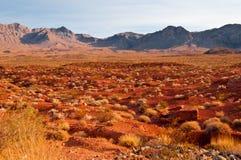 Vista panorámica del valle del fuego Foto de archivo