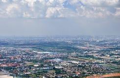 Vista panorámica en la vecindad de Bangkok Imágenes de archivo libres de regalías