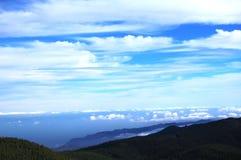 Vista panorámica a Gran Canaria imágenes de archivo libres de regalías