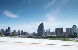 Vista panorámica grande de Baku de Haydar Aliyev Centre Foto de archivo