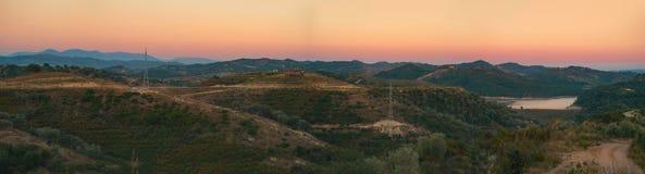 Vista panorámica a la naturaleza albanesa del campo Fotografía de archivo libre de regalías