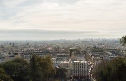 Vista panorámico de Montmartre a finales de octubre fotos de archivo libres de regalías