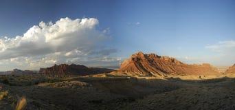 Vista panorámico en la inflamación de San Rafael en Utah Foto de archivo