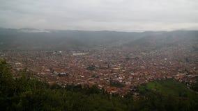 Vista panorâmica aérea a Cuzco, Peru Imagem de Stock