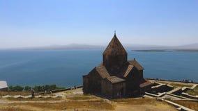 Vista panorâmica aérea de igrejas de Surp Arakelots e de Astvatsatsin em Armênia vídeos de arquivo