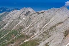 Vista panorâmica ao pico de Banski Suhodol e ao Koncheto, montanha de Pirin Imagem de Stock Royalty Free