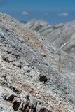 Vista panorâmica ao pico e ao Koncheto de Kutelo Fotografia de Stock