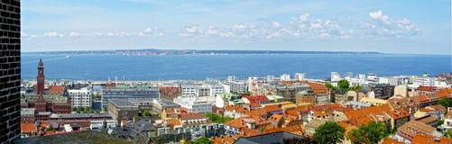 Vista panorâmica através de Helsingborg Foto de Stock Royalty Free