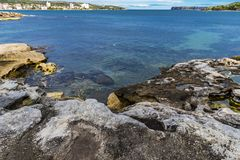 Vista panorâmica através do porto norte, Sydney, Austrália imagem de stock