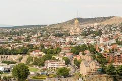 Vista panorâmica bonita de Tbilisi fotografia de stock