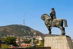 Vista panorâmica bonita de Tbilisi Fotos de Stock