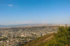 Vista panorâmica bonita de Tbilisi imagens de stock