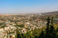 Vista panorâmica bonita de Tbilisi imagem de stock