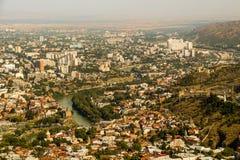 Vista panorâmica bonita de Tbilisi foto de stock