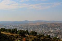 Vista panorâmica bonita de Tbilisi imagem de stock royalty free