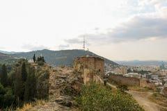 Vista panorâmica bonita de Tbilisi Foto de Stock Royalty Free