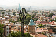 Vista panorâmica bonita de Tbilisi imagens de stock royalty free