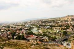 Vista panorâmica bonita de Tbilisi fotos de stock royalty free