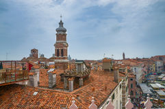 Vista panorâmica bonita em Veneza da parte superior Imagens de Stock Royalty Free